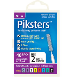Piksters pack of 40 interdental brushes