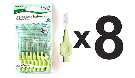 Tepe Extra Soft interdental brushes (pack of 8)