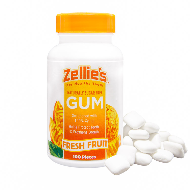 Zellies Xylitol Gum Fresh Fruit (cont 100 pieces)