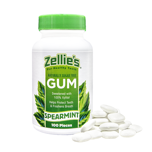 Zellies Xylitol Gum Spearmint (cont 100 pieces)
