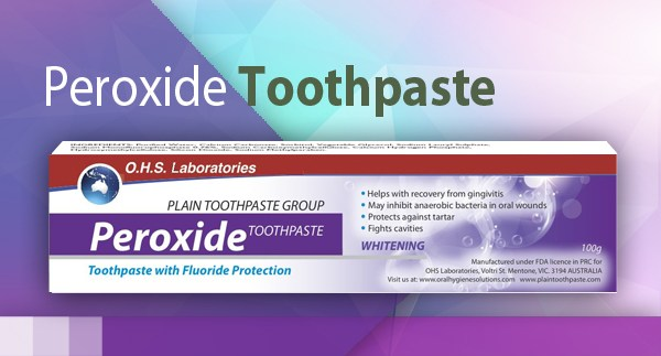 Plain Peroxide Toothpaste  with  Whitening Action (100g)
